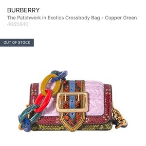 Burberry Limited Edition Exotic Patchwork crossbdy
